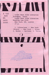 Lower East Side Librarian Reading Log 2008